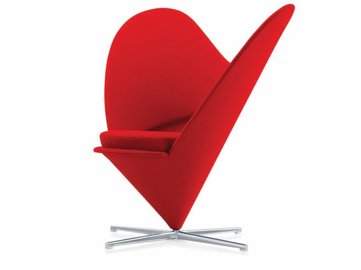 A variant on Cone Chair with Mickey Mouse ears!  Wingchairs HEART CONE CHAIR by @Vitra Furniture | Design Verner Panton (1959)