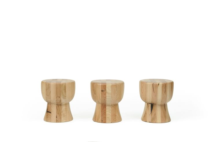 Recycled Messmate Egg Cup Stools.