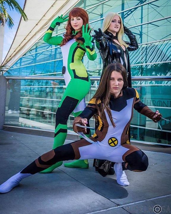 Marvel Monday All New X-Men Style! . . The ladies of the All-New X-Men at San Diego Comic Con! None of these costumes lasted too long in canon but hey we like them  . . . @castlecorsetry as Emma Frost @realamandalynne as Jean Grey @ainsleyparkss as X-23 Costumes by @castlecorsetry Photo by @modelmosa #marvel #marvelcomics #allnewxmen #xmen #xmencomics #xmencosplay #allnewxmencosplay #jeangrey #emmafrost #x23 #jeangreycosplay #emmafrostcosplay #x23cosplay #laurakinney #marvelgirl #cosplay…
