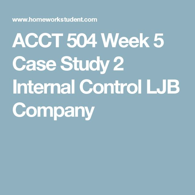 acct 504 case study 2 essay Here is the best resource for homework help with acct 504 : acct at devry chicago find acct504 study guides, notes, and practice tests from devry chicago.