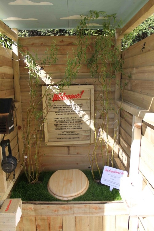 Where would you rather be weeing at a festival? A grotty porta-loo you share with 1000s of others? Or your very own wooden palace of pee??    www.leopallooza.com to find out more.