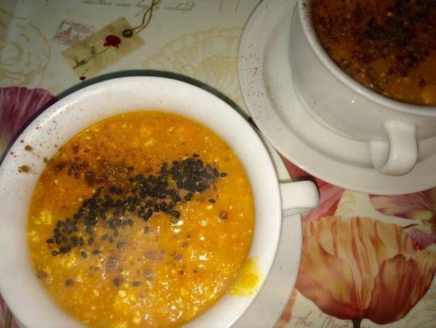 Sopa crema de zanahoria y ricotta