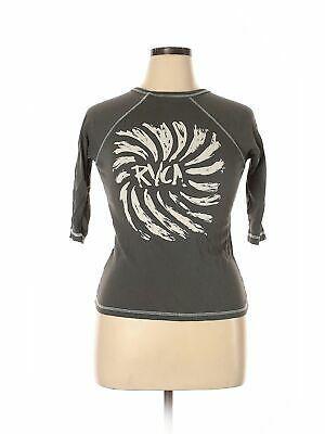 Rvca Frauen Grau Kurzarm T Shirt S # Mode #Kleidung #Schuhe #Zubehör #W #fashio…