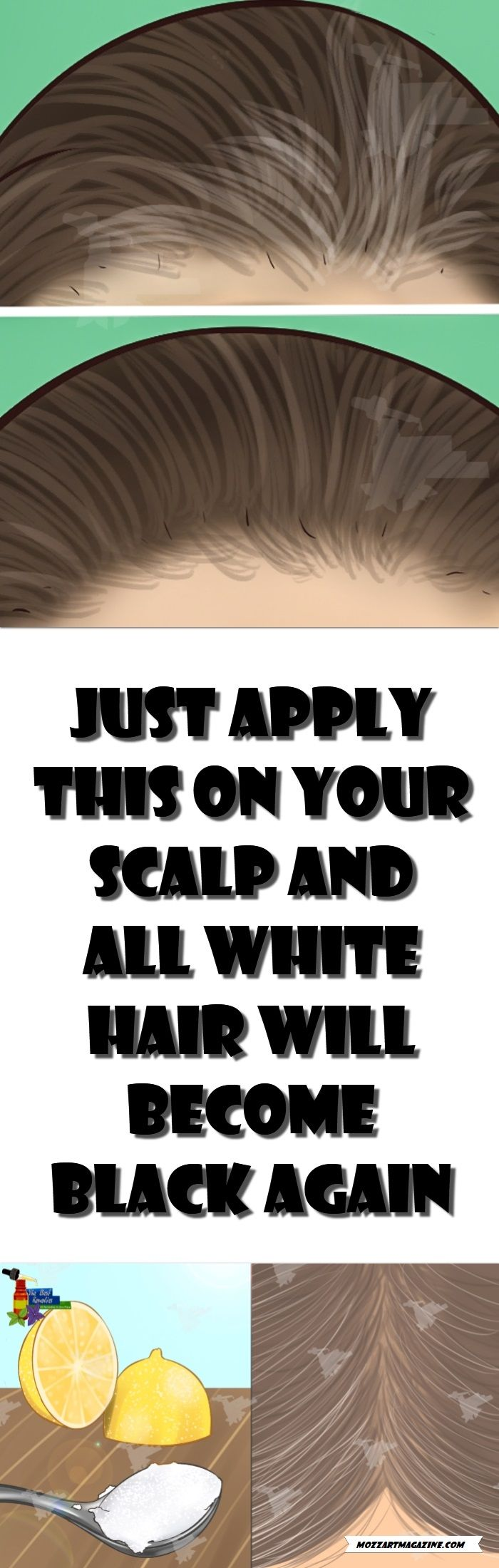 JUST APPLY THIS ON YOUR SCALP AND ALL WHITE HAIR WILL BECOME BLACK AGAIN