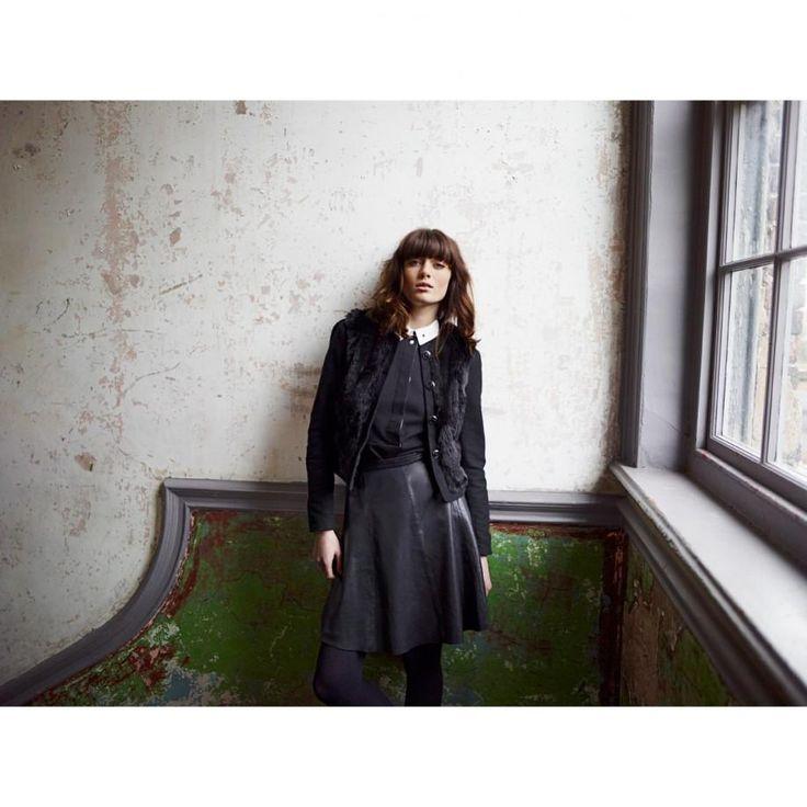 Paul Smith  - Black Faux Fur Cropped Jacket