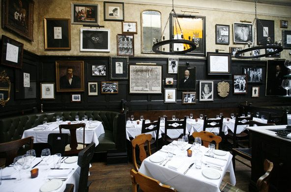 The Lion: Amazing interior of NYC restaurant.