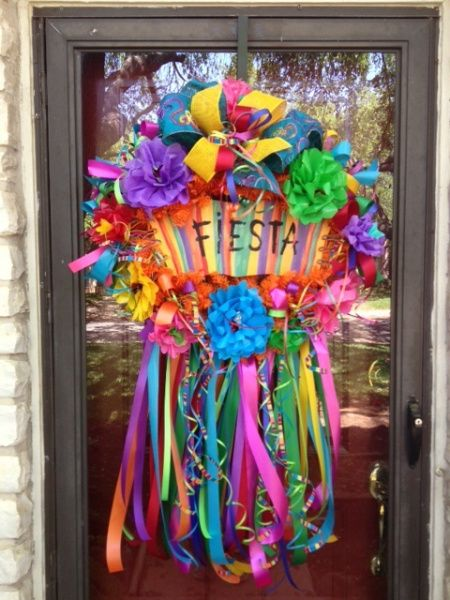 Fiesta Wreath, Cinco de Mayo Wreath