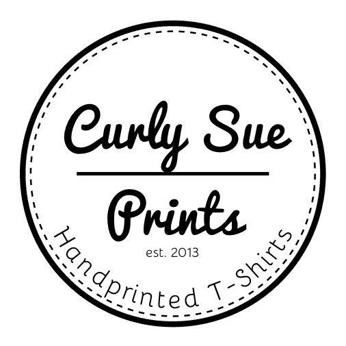 Curly Sue Prints is back online! Offering amazing custom t-shirts all lovingly printed by hand!