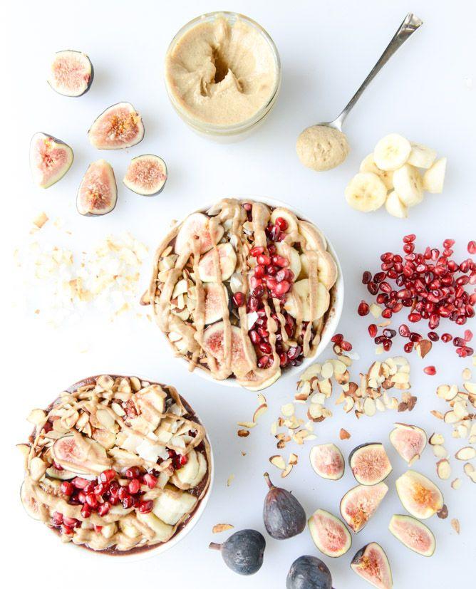 Autumn Acai Bowls with Vanilla Bean Cashew Butter