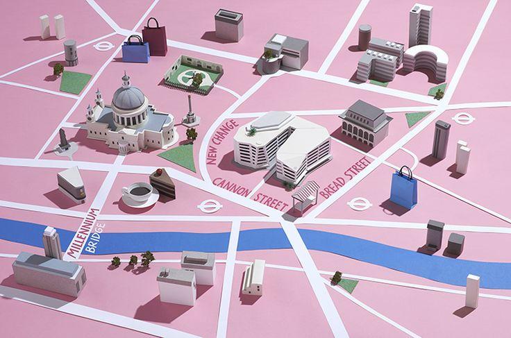 Hattie Newman - paper model maps