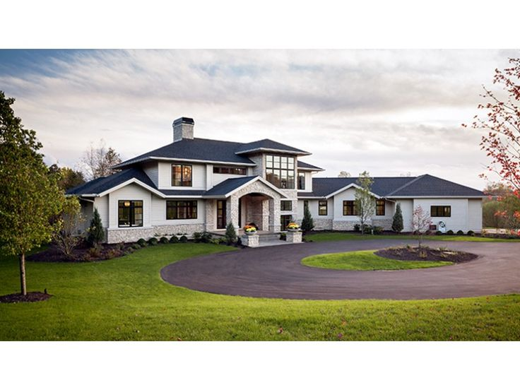 Home Plan HOMEPW77725 is a gorgeous 4983 sq ft, 2 story, 4 bedroom, 3 bathroom plan influenced by  Contemporary-Modern Homes style architecture.