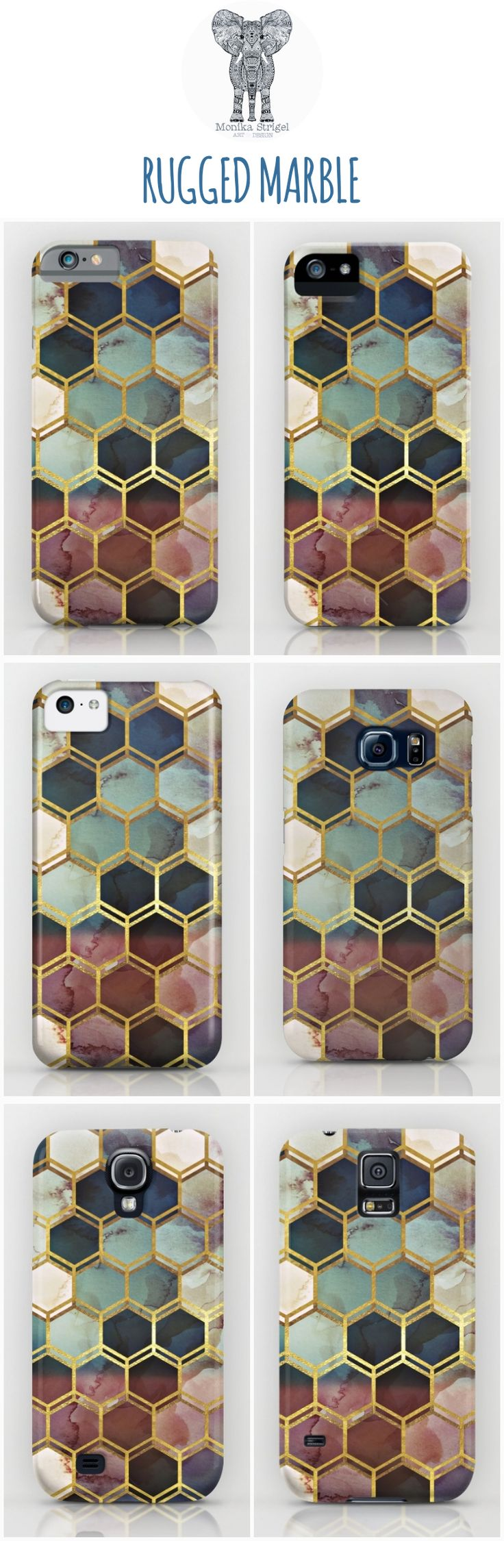 Stand out with this rustic and gold mixed case for  all iPhones and Samsung…