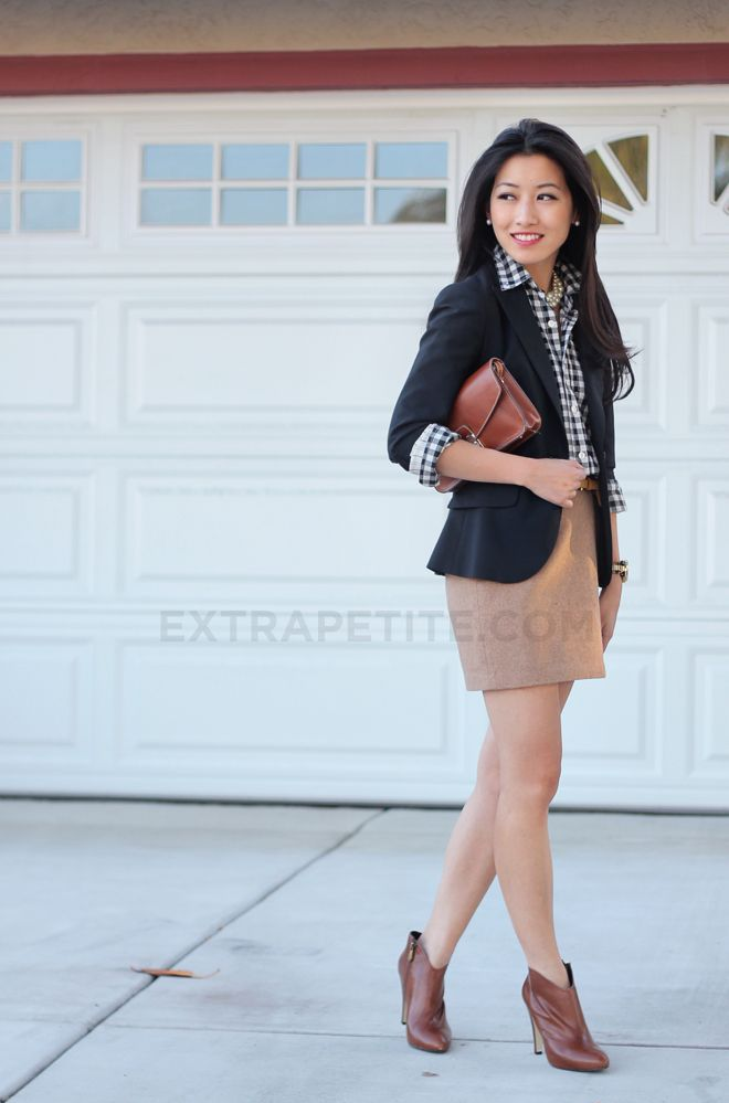 ExtraPetite.com - Style in a Suitcase, Part 3: Black, browns   ankle boot woes adrienne V. Ankle booties