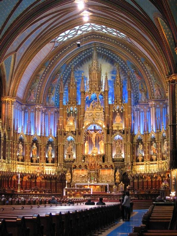 Notre Dame Cathedral in Montreal, Quebec
