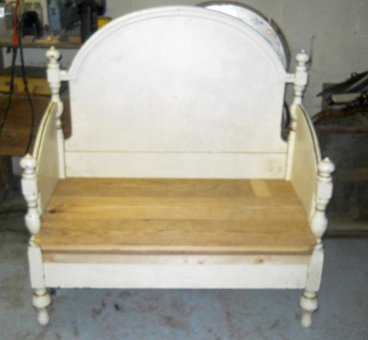 this is a single bed made into a bench bench s