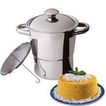 Cuscuzeira Aço Inox Panela para Cuscuz Utilidade Cozinha Fogão - HL8 PA110