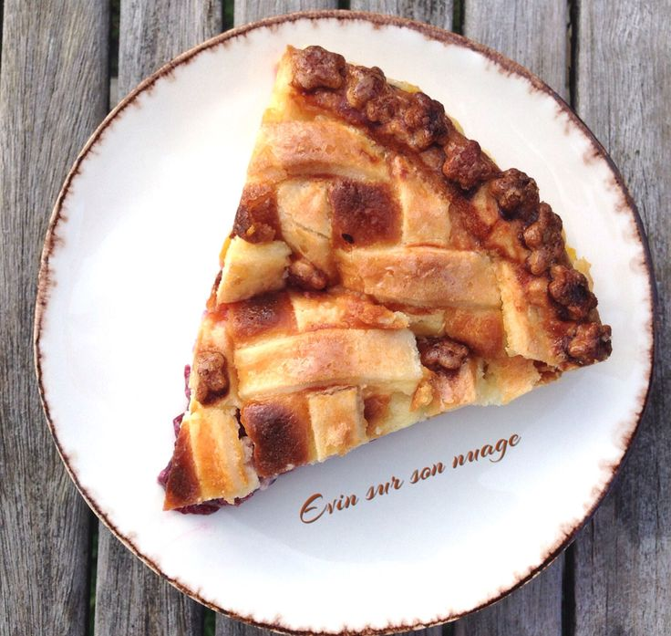 Tarte aux mirabelles et sa crème mascarpone, en trompe l'œil comme une Apple Pie. Pâte sablée croustillante.... Reçette sur ma page FB ☁️☁️☁️