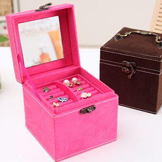 Ленивый углу ящик для хранения кассета три Европейский ретро ювелирные изделия ювелирные изделия портативный многофункциональный зеркало 335 ...