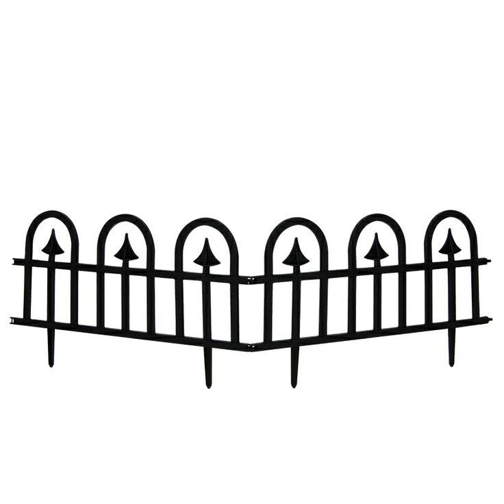 www.sconticasa.it  Recinzione in polipropilene  composto da 2 pezzi con snodo centrale  Colore Nero