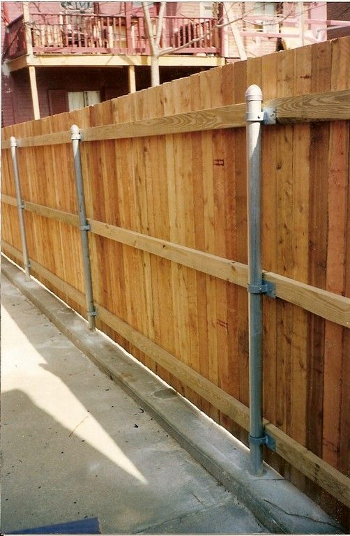 Convert A Chain Link Fence To Wooden Landscape Pinterest Fences Fencing And