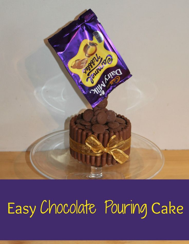 Easy, Chocolate pouring cake, Anti gravity cake tutorial