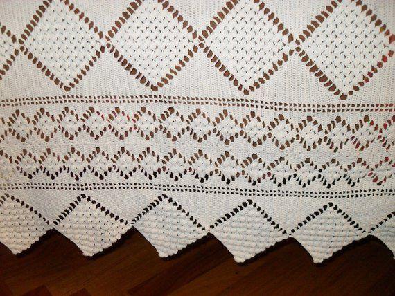 Copriletto Matrimoniale Fatto A Mano.Handmade Double Crochet Bedspread Centrini Fatto A Mano