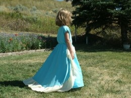 Turn bridesmaid dress into dress up for girls