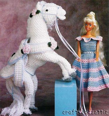 Barbie e seu cavalo branco