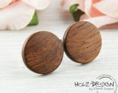 Holz Ohrstecker Fake Plugs Holz Ohrringe Fake von HolzDesignGermany