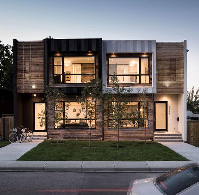 maison contemporaine bois et beton