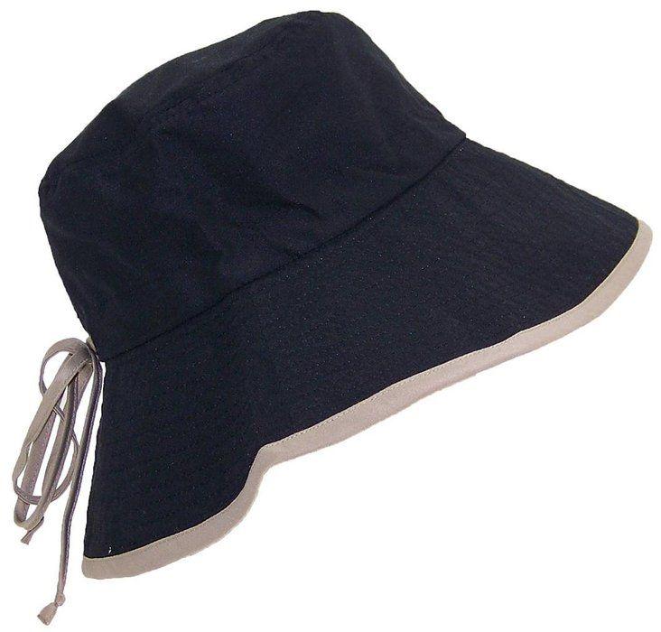 36cf2e34d4736 Womens Reversible Summer Floppy Bucket Hat W Adjustable Pull String (One  Size) Black