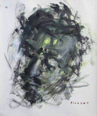 "Saatchi Online Artist Masri Hayssam; Painting, ""self portrait -p83"" #art"