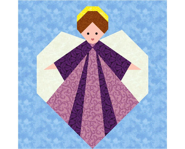 Guardian Angel Quilt Block Paper Pieced Quilt Patterns