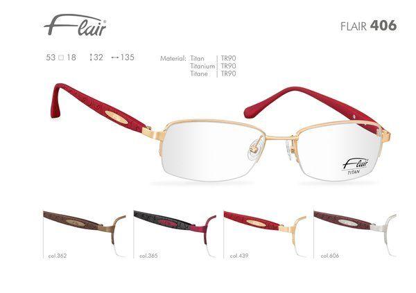 FLAIR Brillen made in Germany: Flair leichte Brillen Modell 406