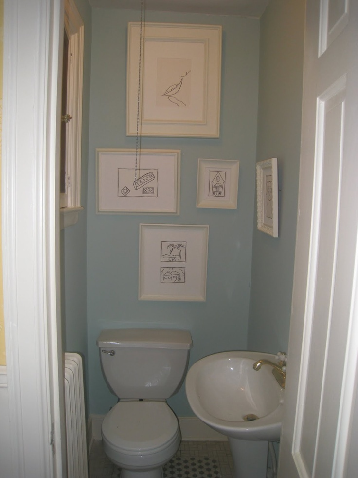 Closet To Powder Room Small Bathroom Design Ideas