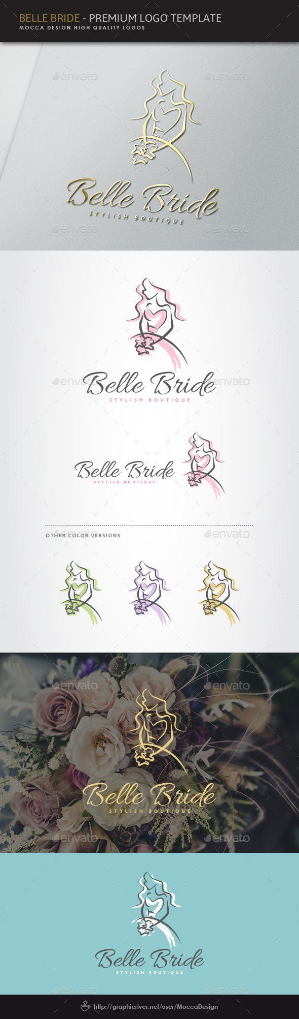 Belle Bride Logo  EPS Template • Download ➝ https://graphicriver.net/item/belle-bride-logo/15982119?ref=pxcr