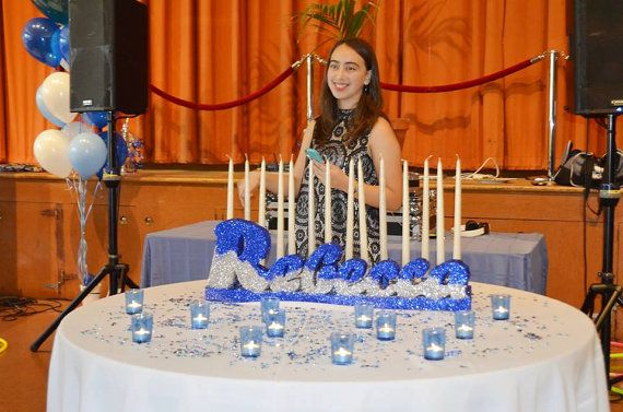9 Best Images About Sweet 16 Candelabra Batmitzvah