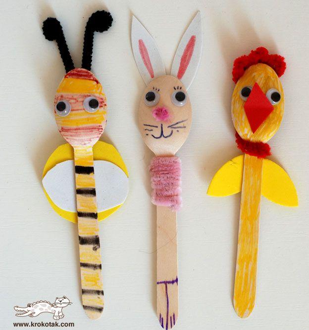manualitats amb culleres de fusta (Tic, llapis i paper)