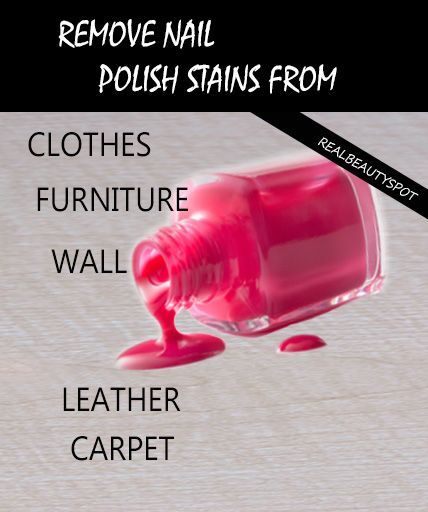 Get rid of Nail Polish stains from clothes, furniture, wall, leather, carpet...