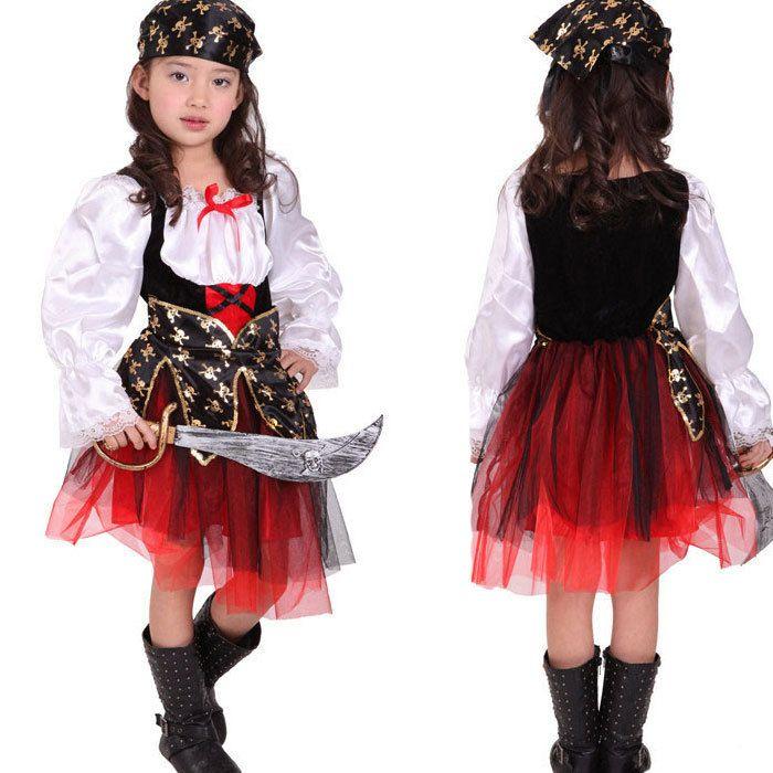 Костюм детский пират хэллоуин пиратская косплей костюмы карнавальных костюмов платье для девушки одеваются костюм ну вечеринку косплей