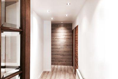 Rebedor revestiment en fusta combinat amb enguixat extrafí,  Construccions Madrona www.construmadrona.com