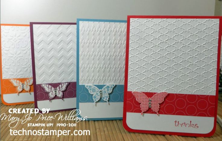 Papillon Potpourri, Polka Dot Parade dsp, Elegant Butterfly punch, & embossing folders: Embossing Cards, Folder Cards, Polka Dots, Beautiful Cards, Cards Sets, Embossing Folder, Techno Stampers, Butterflies Punch, Lns Challenges