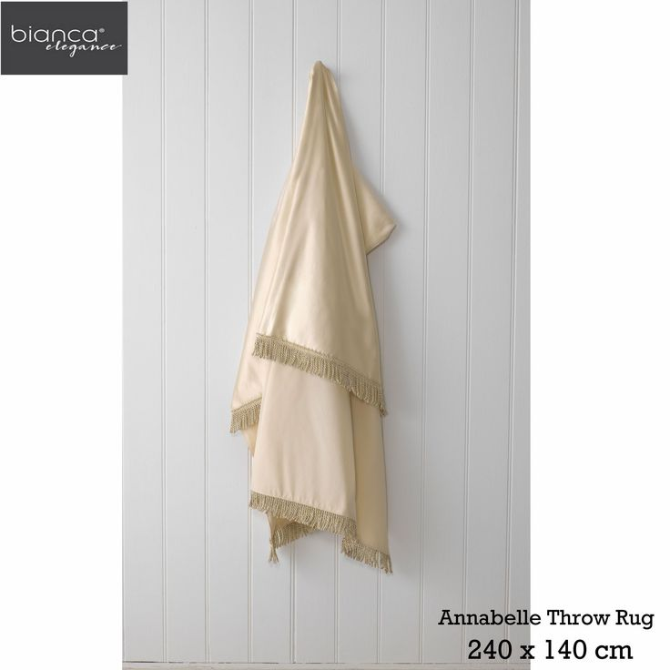 Annabelle Gold Throw Rug by Bianca Elegance