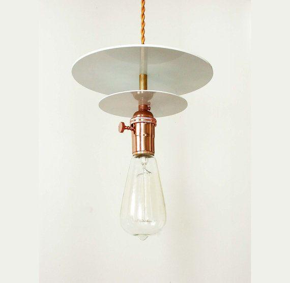 Copper Pendant Lamp White Pendant Front Desk Lighting Bedroom Lamp Foyer Lighting Loft Light Modern Lamp Edison Bulb Ceiling Light