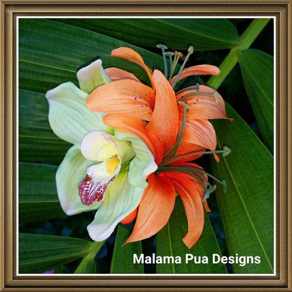 TROPICAL HAIR CLIP-Hawaiian Hair Accessory Hair Clip by MalamaPua