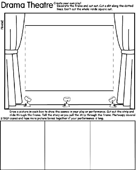 drama theatre coloring page school ideas pinterest. Black Bedroom Furniture Sets. Home Design Ideas