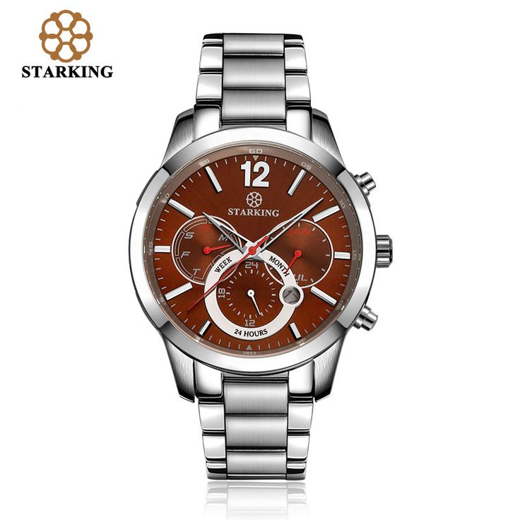 STARKING Casual Men's Watch 3 Eye Time Water Resistant Quartz hub Watches Men Retro Rose Gold Watch BM0947 relogio masculino-in Quartz Watches from Watches on Aliexpress.com | Alibaba Group