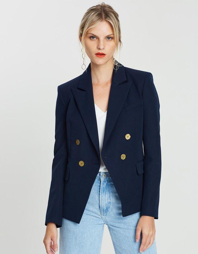 7a03c7b5f Belinda Gold Button Blazer in 2019 | Blazer love | Blazer buttons ...