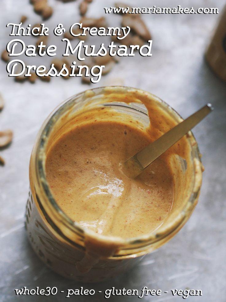 Thick & Creamy Date Mustard Dressing — Maria Makes | Food & DIY Blog