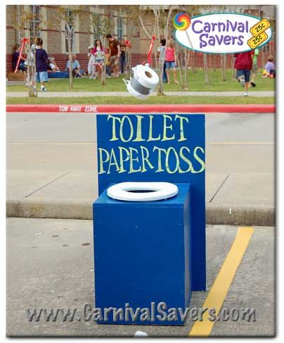 Toilet Paper Toss Carnival Game!
